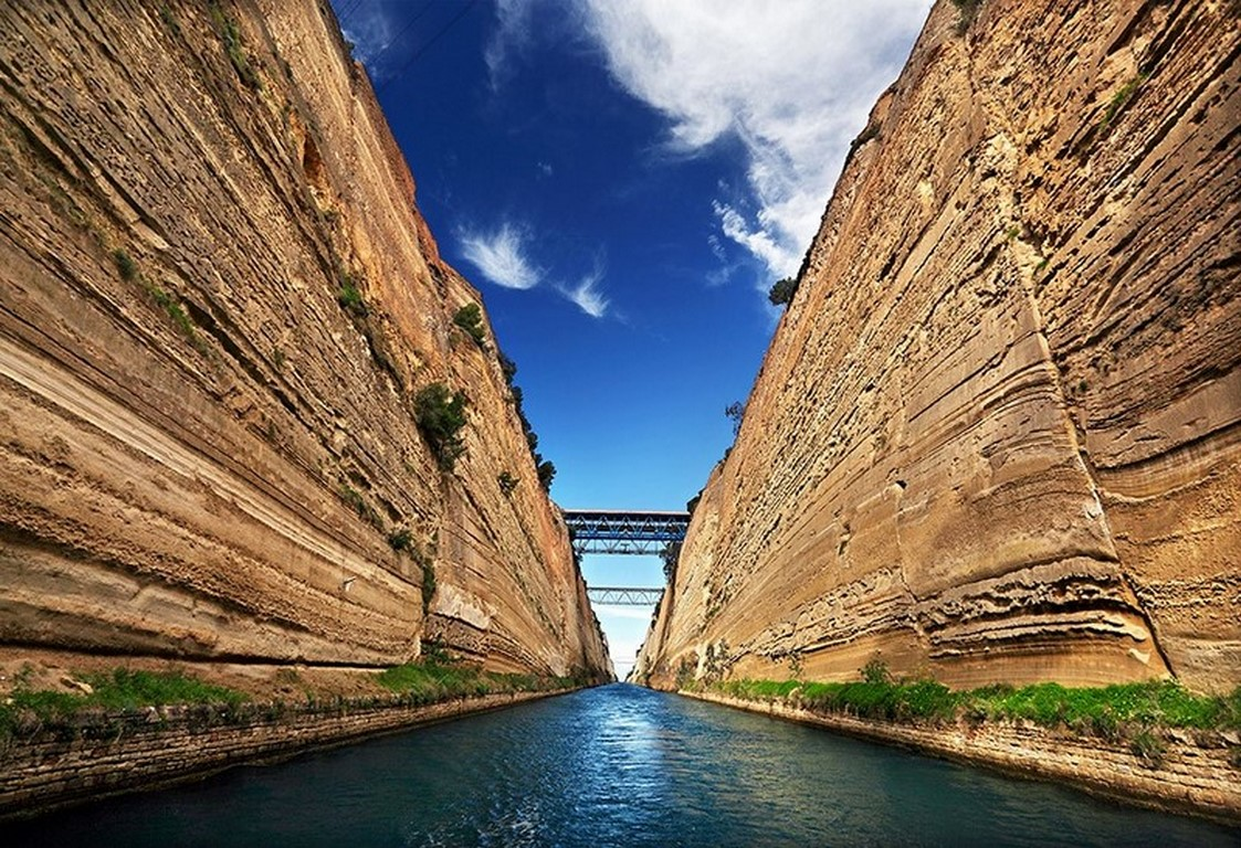 Sailing Across Corinth Canal